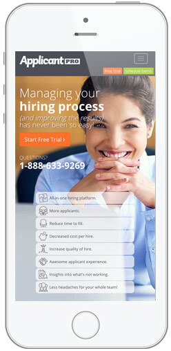 mobile recruiting applicants