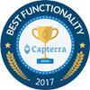 capterra award best functionality