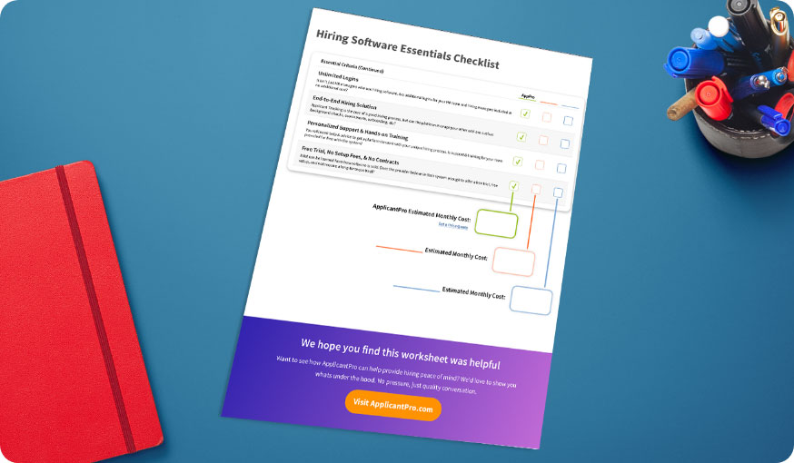 hiring software checklist